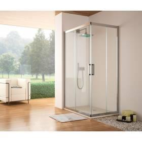 Kassandra Mampara Angular ducha S300 transparente -plata brillo