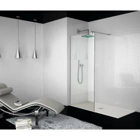 Mampara ducha Kassandra fijo cristal transparente modelo 300