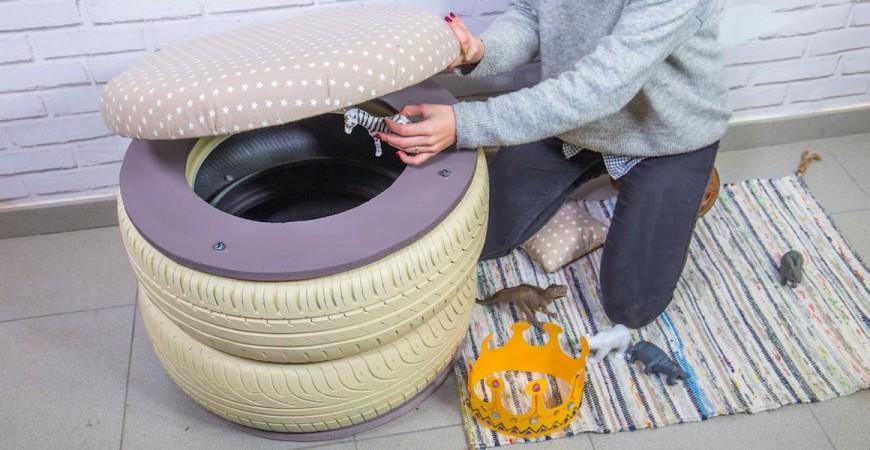 ¿Necesitas orden en tu casa? Este proyecto con neumáticos reciclados viene a tu rescate